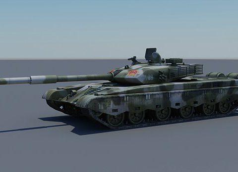 Iron Mountain Type-99 MBT 3D model
