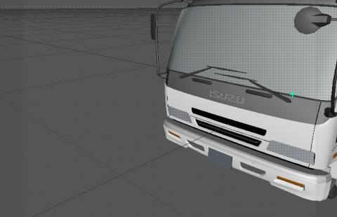 Isuzu low poly 3D model