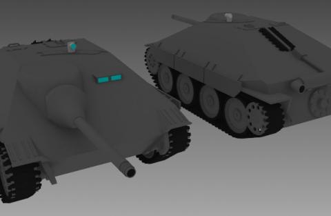 Jagdpanzer Hetzer 3D model