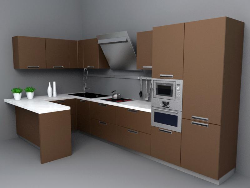 Kitchen set for Kitchen set 3d warehouse