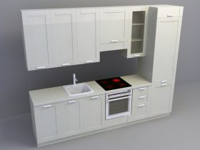 Kitchen Set 3d skp model