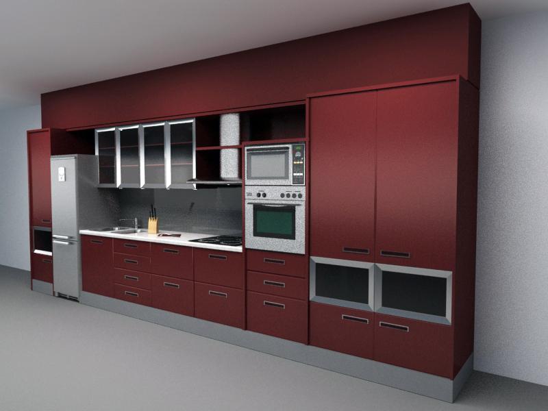 Kitchen Set Free 3d Models