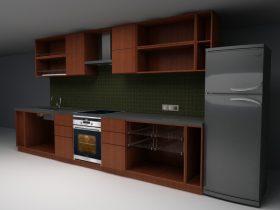 Kitchen Set 3d max obj model