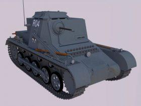 Kl PzBfWg I, Sd.Kfz. 265 command tank 3D model