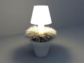LED lighting plant design 3d model