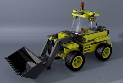 LEGO Excavator Truck 3D model