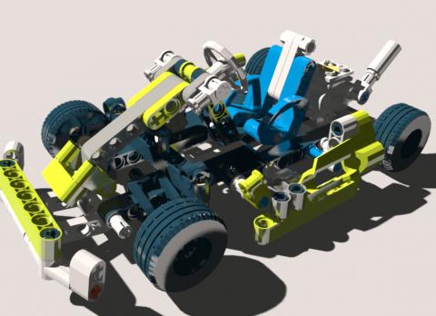 LEGO Technic Car 3D model