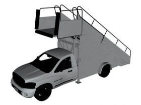 Lavatory truck 3D model