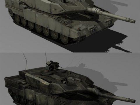 Leopard 2 MBT 3D model