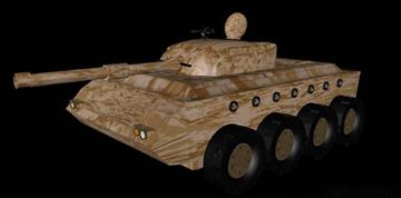 Light tank unfinished 3D model