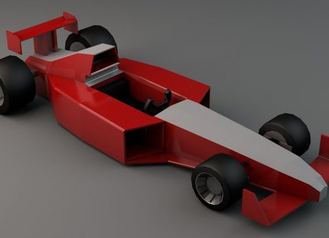 Low Poly Formula 1 3D model