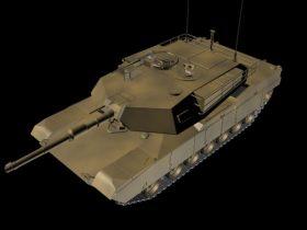 M1 Abrams American Main Battle Tank 3D model