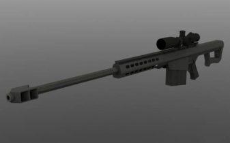 M107 Barrett 3D model