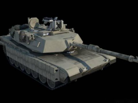 M1A2 Abrams with interior 3D model