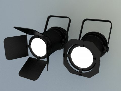 Modern Stage lights 3d model