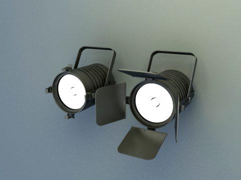 Moving head lights 3d max model