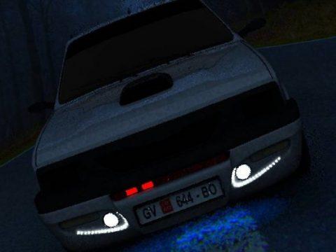 Night rider modified car 3D model
