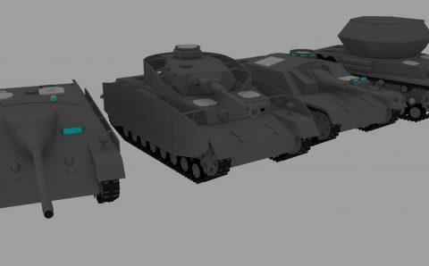 Panzer IV series 3D model