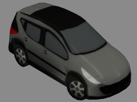Peugeot 207 sw 3D model