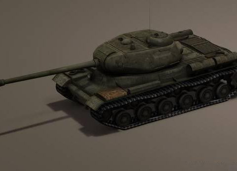 Russian Tank JS 122 3D model