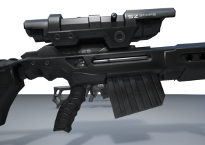 Sniper Rifle KSR-29 Retexurted 3D model