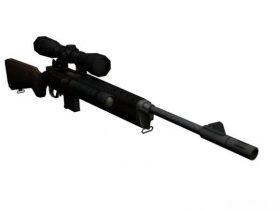 Sniper rifle mini14 3D model