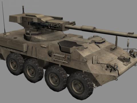 Stryker MGS 3D model