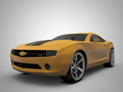 Yellow Camaro 3D model