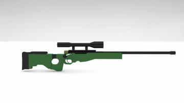 Awm sniper 3D model