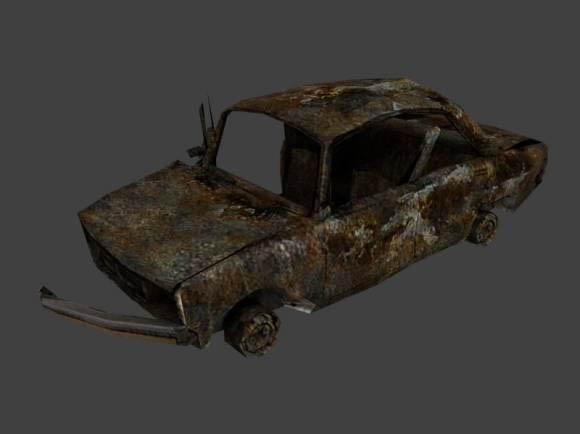 Car scrap 3D model