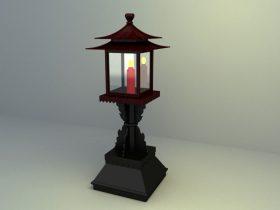 chinese garden light 3d model