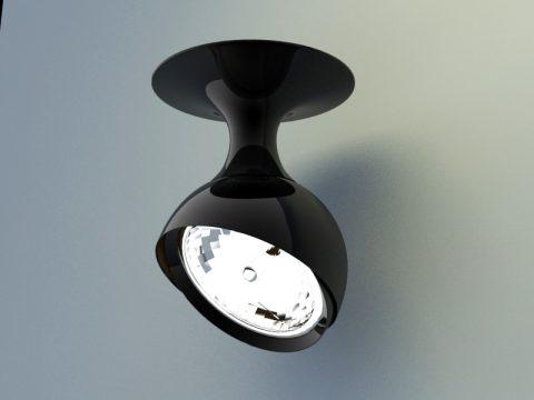 metal mini spotlights 3d model