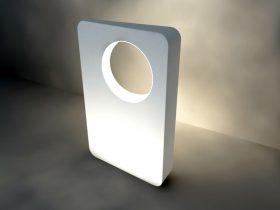 modern led light 3d model