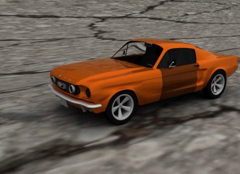 Mustang 1966 3D model