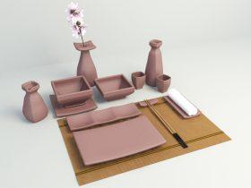 tableware 3d model free