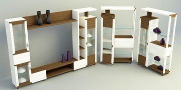 tv panel cabinet 3d model
