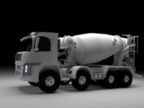 Volvo mixer 3D model