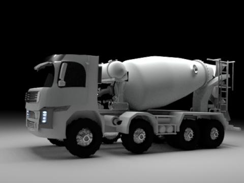 Volvo mixer 3D model