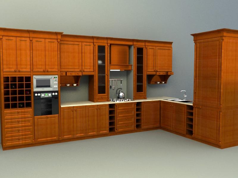 Wooden concept kitchen | Free 3D models