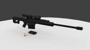 .50 Cal Sniper 3D model