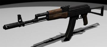 AK74S 3D model