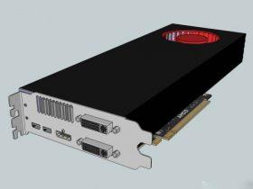 AMD Radeon 3D model