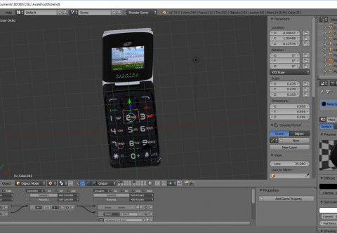 Alcatel A206 3D model