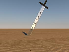Arabic sword 3D model