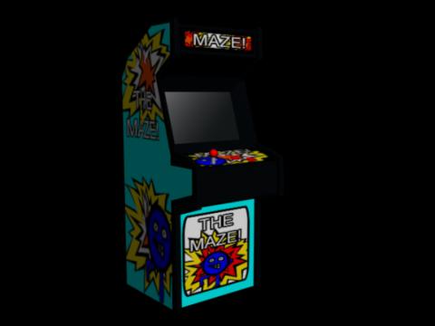 Arcade Machine Cabinet 3D model