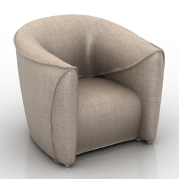 Armchair 3d 3ds model