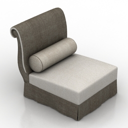 Armchair BAKER Barbara Barry art442 | DownloadFree3D.com