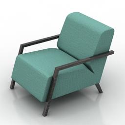 Armchair Foxi 3d model