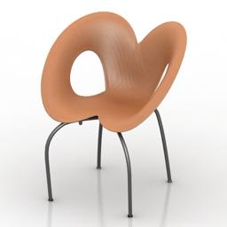 Armchair Ripple Chair 3d model