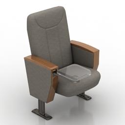 Armchair cinema 3d model